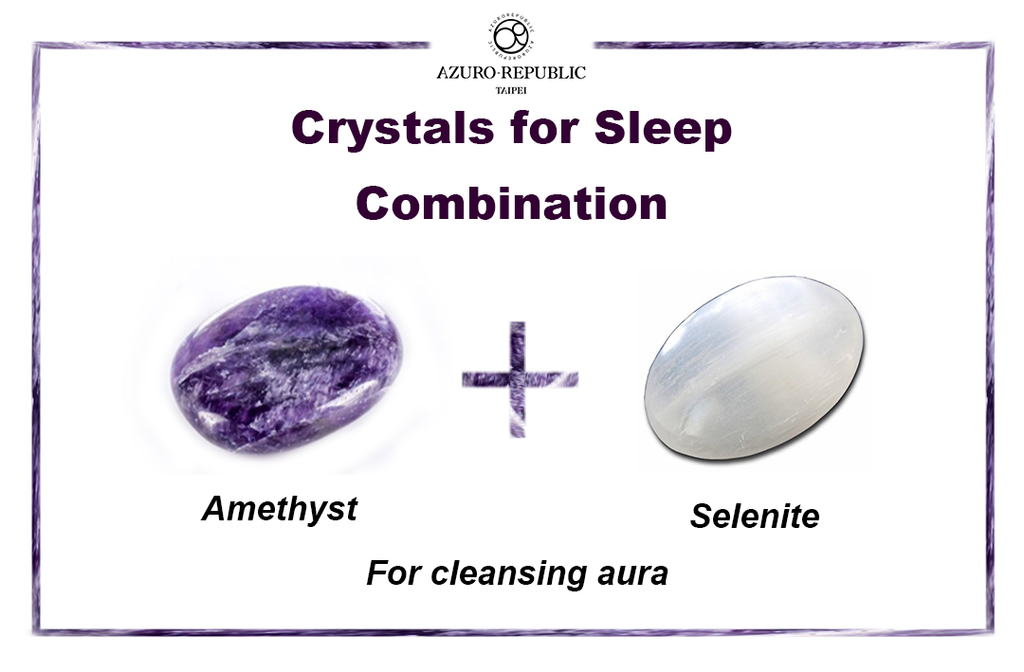 crystals for sleep, crystals combination, healing crystals combination, AMETHYST AND SELENITE, AMETHYST, SELENITE