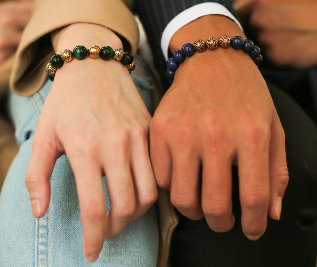 couple bracelets, matching bracelets for couples, different beaded bracelets, zoom in picture of matching couple bracelets, recommended couple bracelets style ideas, best bracelets as gift for couple.
