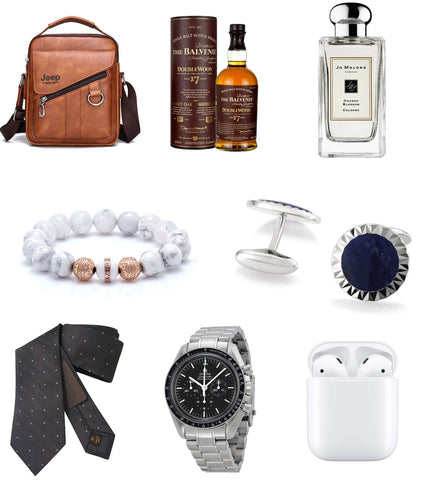 display image of fathers day gifts ideas including mens beaded bracelet cufflinks mens accessories and  mens accessories