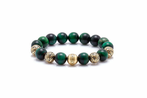 gold mens beaded bracelet as an option for things to ask for Christmas