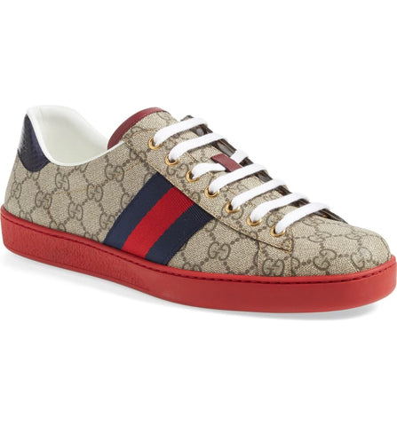 part of mens outfit gucci ace supreme sneakers as an option of valentines gifts  for him