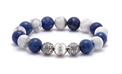 mens jewelry silver classic aciers mens beaded bracelet single object image as an option for valentine gifts for him
