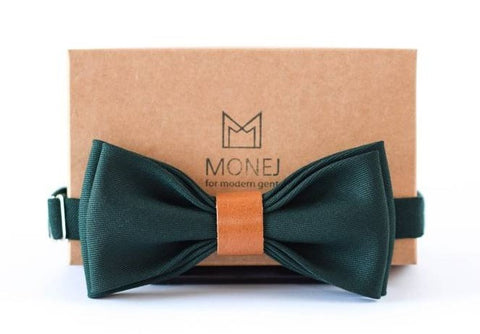 mens accessories forest green handmade bow tie as an option of valentines gifts  for him