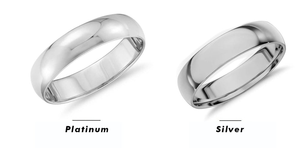 Differences between jewelry metals, Platinum vs Silver