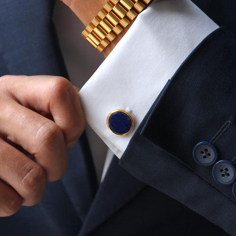 Azuro classic personalized mens cufflink as one of the new year gifts ideas for your husband