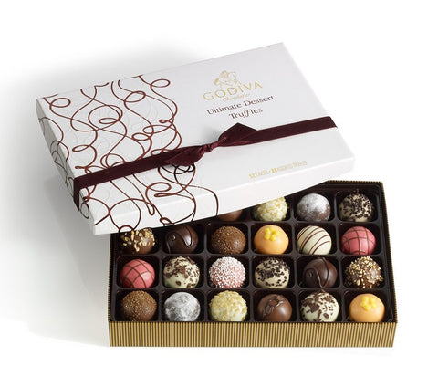 gourmet chocolate box godiva ultimate dessert truffles as an option of 4 Thoughtful thanksgiving gift ideas for Family