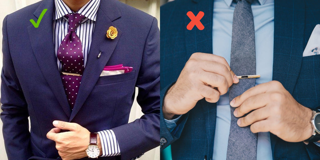 how to wear a tie clip the correct size to wear it