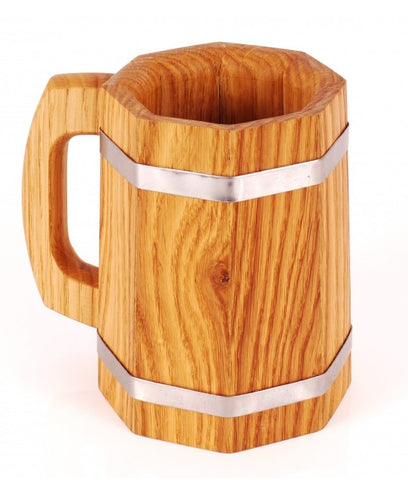wooden beer mug as an option of valentines gifts for him in valentines day