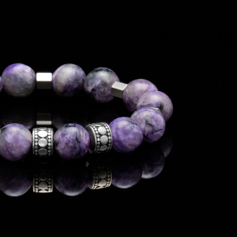 mens stainless steel bracelets, mens silver bracelets, chakra bracelet, chakra stones, third eye chakra, charoite stone, men stone bracelet, men bracelet, bracelet for men, mens bead bracelet, men's accessories, beaded bracelets for men, mens beaded bracelets, silver bracelet, male bracelets, bracelet men, mens jewelry bracelet, handmade mens bracelets, men wear bracelet