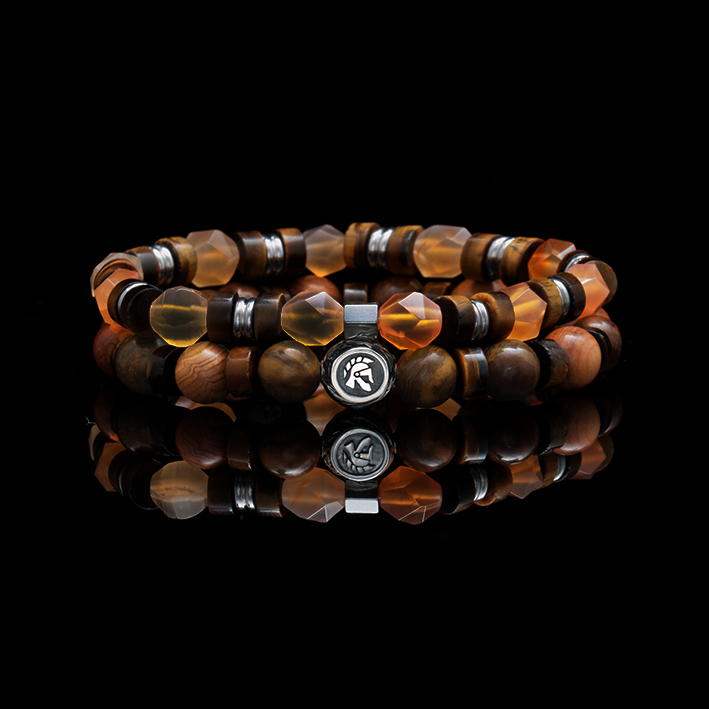 [New Arrival] Pumpkin Pie | Men Stack Beaded Bracelets | Men Beaded Bracelet