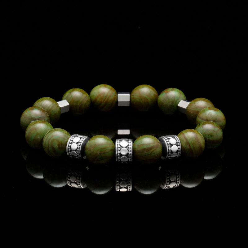 mens stainless steel bracelets, mens silver bracelets, chakra bracelet, chakra stones, heart chakra, green jasper, jasper stone, men stone bracelet, men bracelet, bracelet for men, mens bead bracelet, men's accessories, beaded bracelets for men, mens beaded bracelets, silver bracelet, male bracelets, bracelet men, mens jewelry bracelet, handmade mens bracelets, men wear bracelet