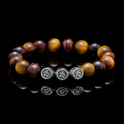 [NEW ARRIVAL] The Huntsman | Silver Dragrose Tiger Eye Beaded Bracelet - Azuro Republic