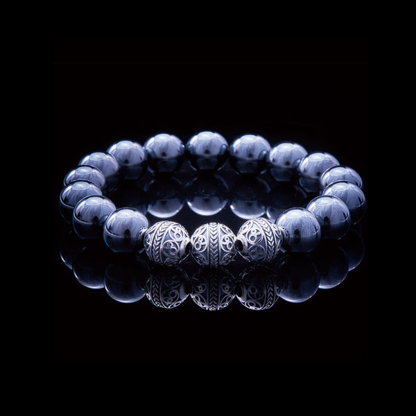 Custom Hematite Bracelet - Gift for him