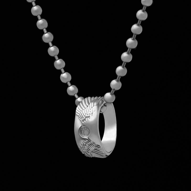 ANGEL WING RING NECKLACE