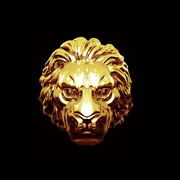 Gold Lion Charm (Bead Only)