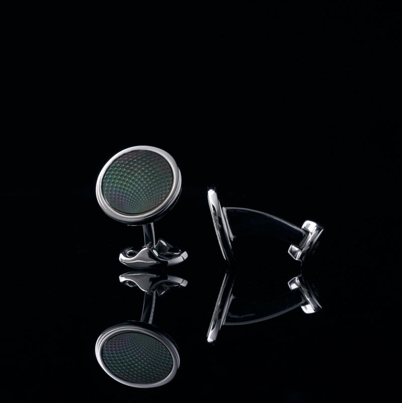 mens sterling silver cufflink designed by Azuro Republic, select suit cufflinks for men with gemstone cufflink men accessories