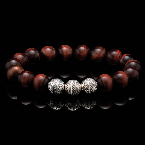 Azuro Republic Red Tiger Eye Bracelet represents intelligence and integrity, it gives courage, injects motivation, and creates positive energy to connect people around