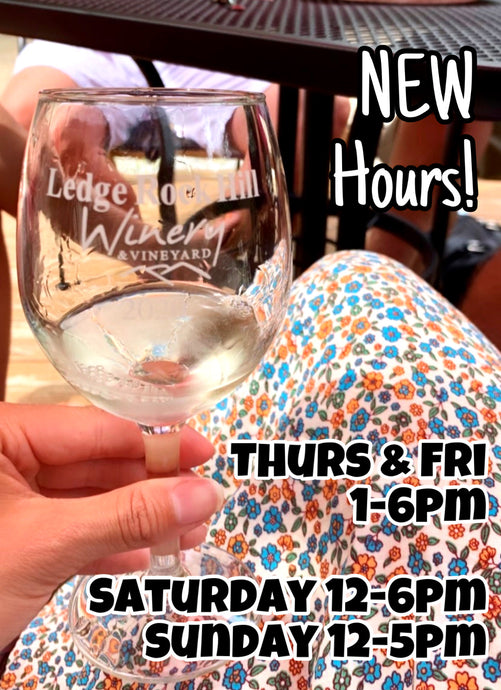 The Winery is Open Thursdays through Sundays!