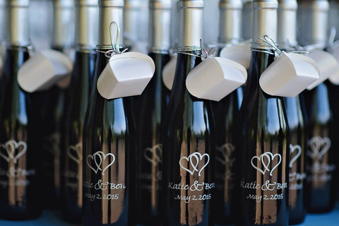 Custom Wedding Wine Bottles
