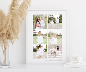 Personalised collage print - 6 photo print