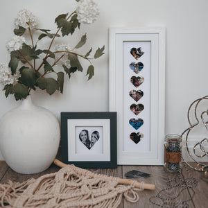 Personalised heart photo long frame - daisytreegifts