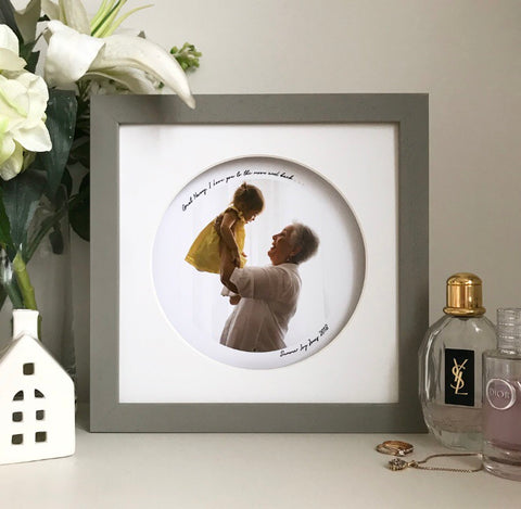 Personalised framed round look through photo frame - Medium - daisytreegifts