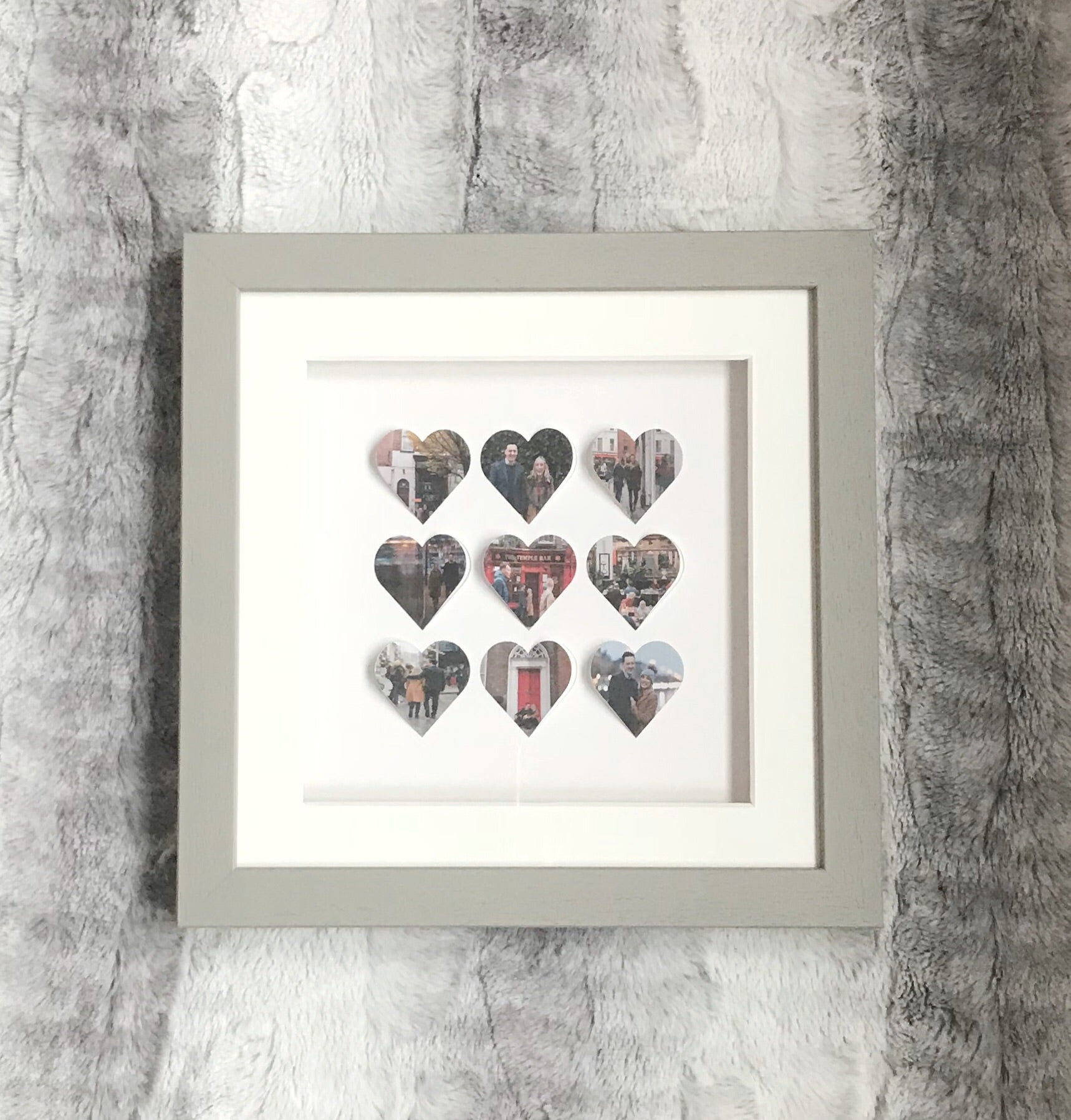 Personalised heart frame - 9 hearts medium frame