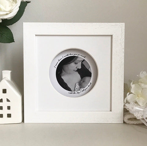 Personalised framed round look through photo frame - Small - daisytreegifts