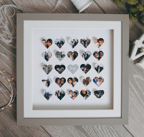 Personalised heart family frame - Large 25 hearts - daisytreegifts