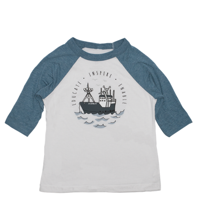 Toddler Boat Baseball Tee
