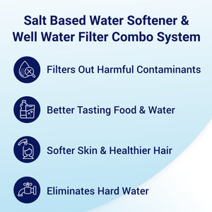 Benefits of Iron Sulfur Manganese Whole House Filter Water Softener Combo