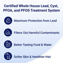 Load image into Gallery viewer, OP1L Certified Whole House Lead, Cyst, PFOA, and PFOS Water Filter System