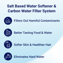 Load image into Gallery viewer, Rkin Salt Based Water Softener Carbon Filter Combo Benefits