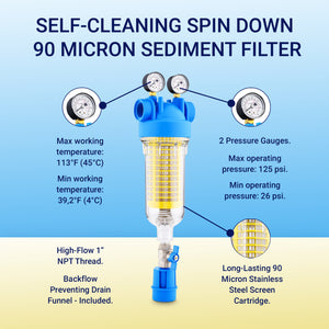 RKIN Dragon spindown sediment filter