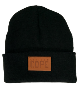 Cope Black Patch Beanie