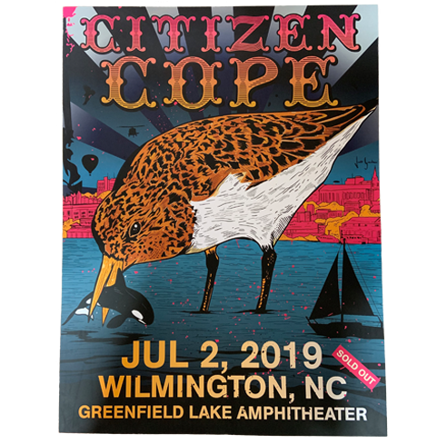 Citizen Cope Sold Out Wilmington, NC Poster