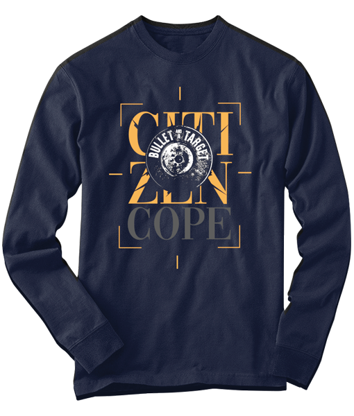 Bullet Navy Long Sleeve