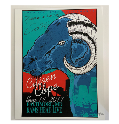 Rams Head Live Baltimore, MD 9/14/2017 Poster (Signed)