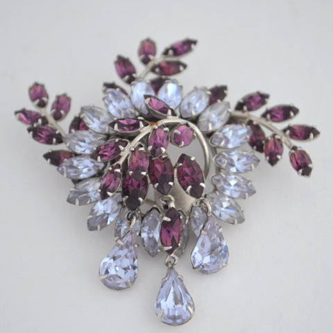 Simpson Vintage Paste Brooch