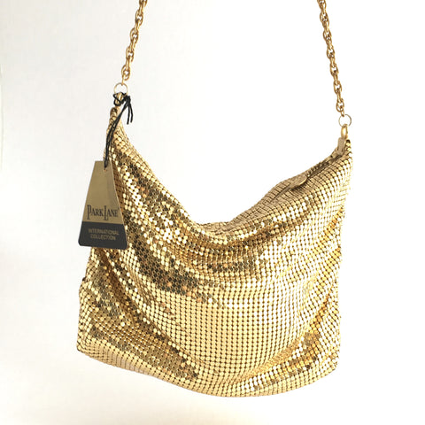 Park Lane 70s Gold Mesh Handbag