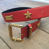 Escada Vintage Leather Belt