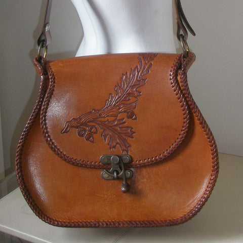 Vintage Tooled Leather Bag