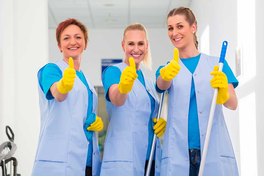 happy furniture cleaners in aged care facility