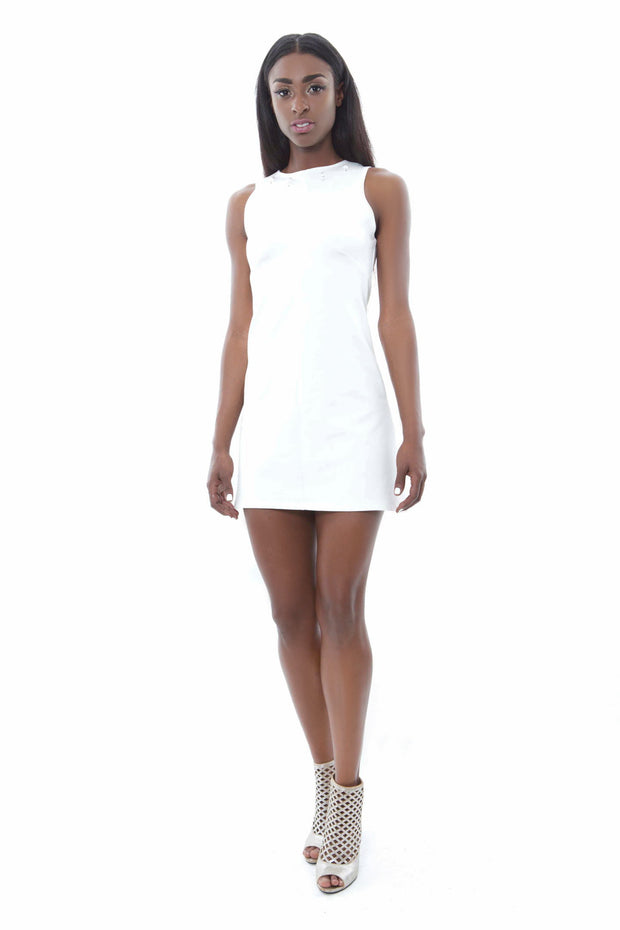 White Mini Shift Dress