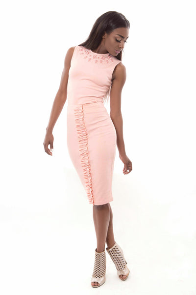 2 Piece Baby Pink Set-Skirt Only