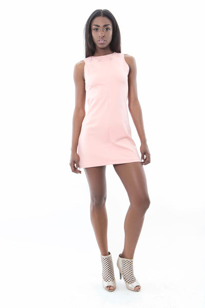 Baby Pink Mini Shift Dress