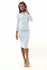 2 Piece Baby Blue Set-Skirt Only