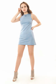 Baby Blue Mini Shift Dress
