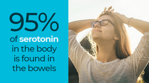 95% of serotonin in the body is found in the bowels