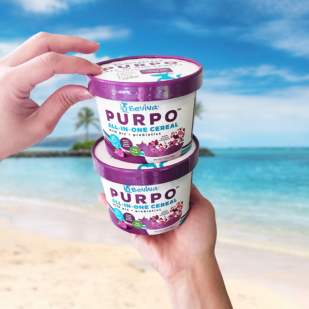 TRIAL OFFER - 2 FREE PURPO Cereal Cups - Beviva Foods